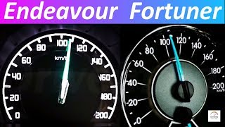 Ford Endeavour 3.2 vs 2018 Toyota Fortuner 2.8 | 0-100 Acceleration test