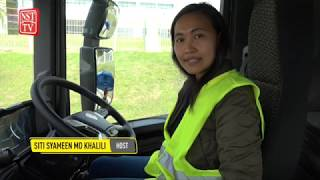 Riding on Scania's giant