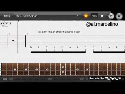 Muse Hysteria Guitar Lesson (Tabs)