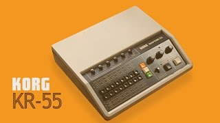 KORG RHYTHM 55 KR-55 Analog Rhythm Box 1979 | HD DEMO