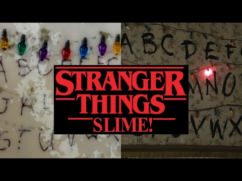 DIY STRANGER THINGS SLIMES!! - Jiggly slime & clear slime recipes
