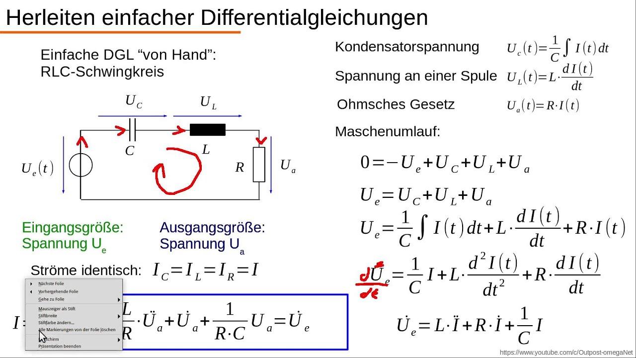 Dynamische Systeme - Teil 1.2 - Einfache DGL aufstellen ...