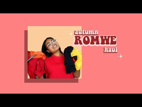 Romwe haul for fall/autumn ✨ | Jessica-Geneve
