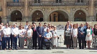 Concentración en recuerdo de Miguel Ángel Blanco en Salamanca