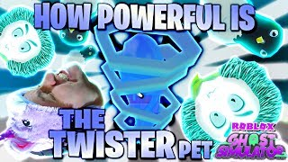 HOW POWERFUL IS THE NEW TWISTER !? :O CLASSIFIED PET #2 OP FARMING 👻 Update 3 Ghost Simulator Roblox