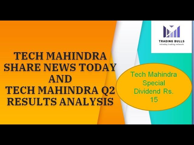 Tech Mahindra Share News Today Tech Mahindra Q2 Results 2020 Target Tech Mahindra Stock Analysis Youtube