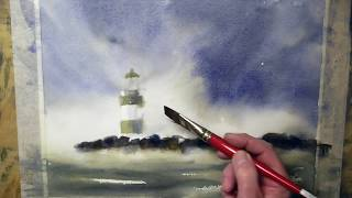 Lighthouse in Watercolour