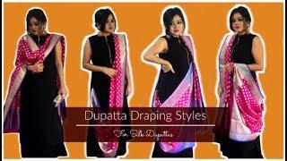 7 Hands-Free Dupatta Draping Styles for Silk Dupattas | How to Drape Dupattas
