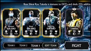 SHIRAI RYU TAKEDA BOSS REVIEW (normal/hard challenge) -FUNNY GLITCHES/FULL GAMEPLAY -Mkx update 1.16