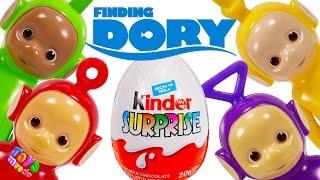 Teletubbies Po Laa Laa Tinky Winky Dipsy Kinder Egg Surprise Toys Sea Otter Finding Dory ToysMiredo
