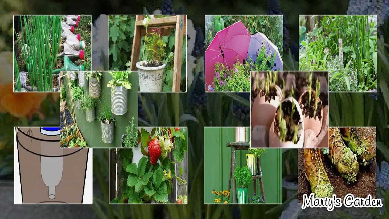 Recycled Container Gardening Ideas Youtube