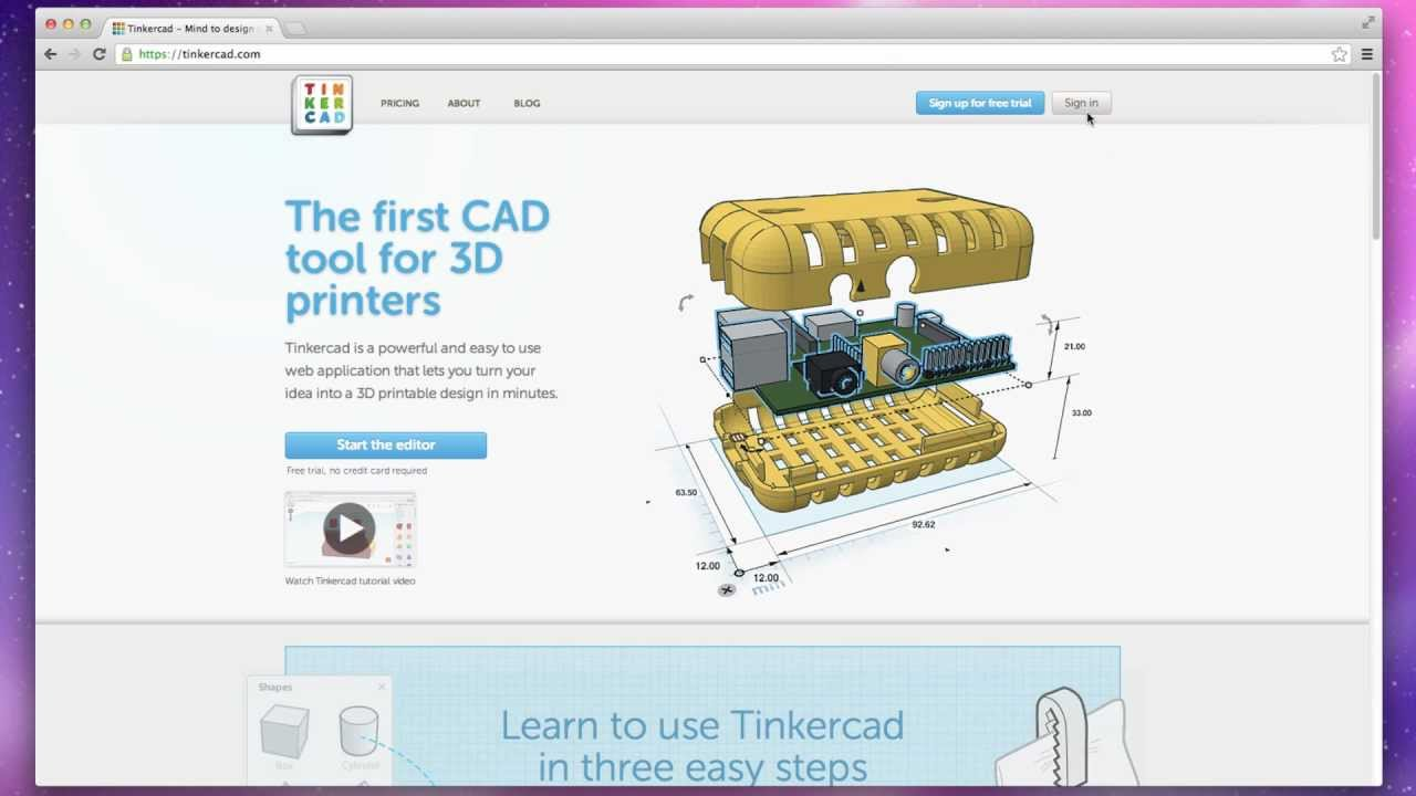 Tinkercad tutorial video youtube for Home design 3d gratis italiano