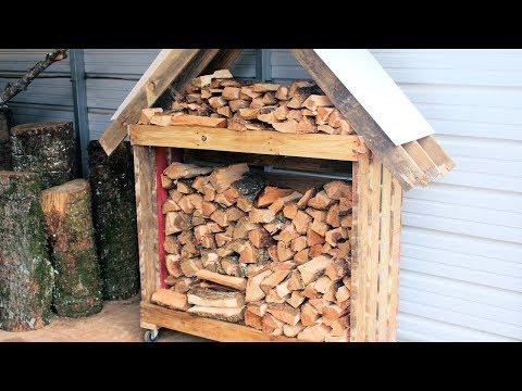 Firewood Storage Rack from 2 Pallets DIY