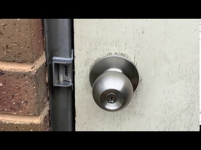 Verroo smart controller with RMD compact strike installed. Human Key Locksmiths Melbourne
