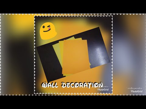 Wall decor with paper.... DIY wall decor.... Wall decoration