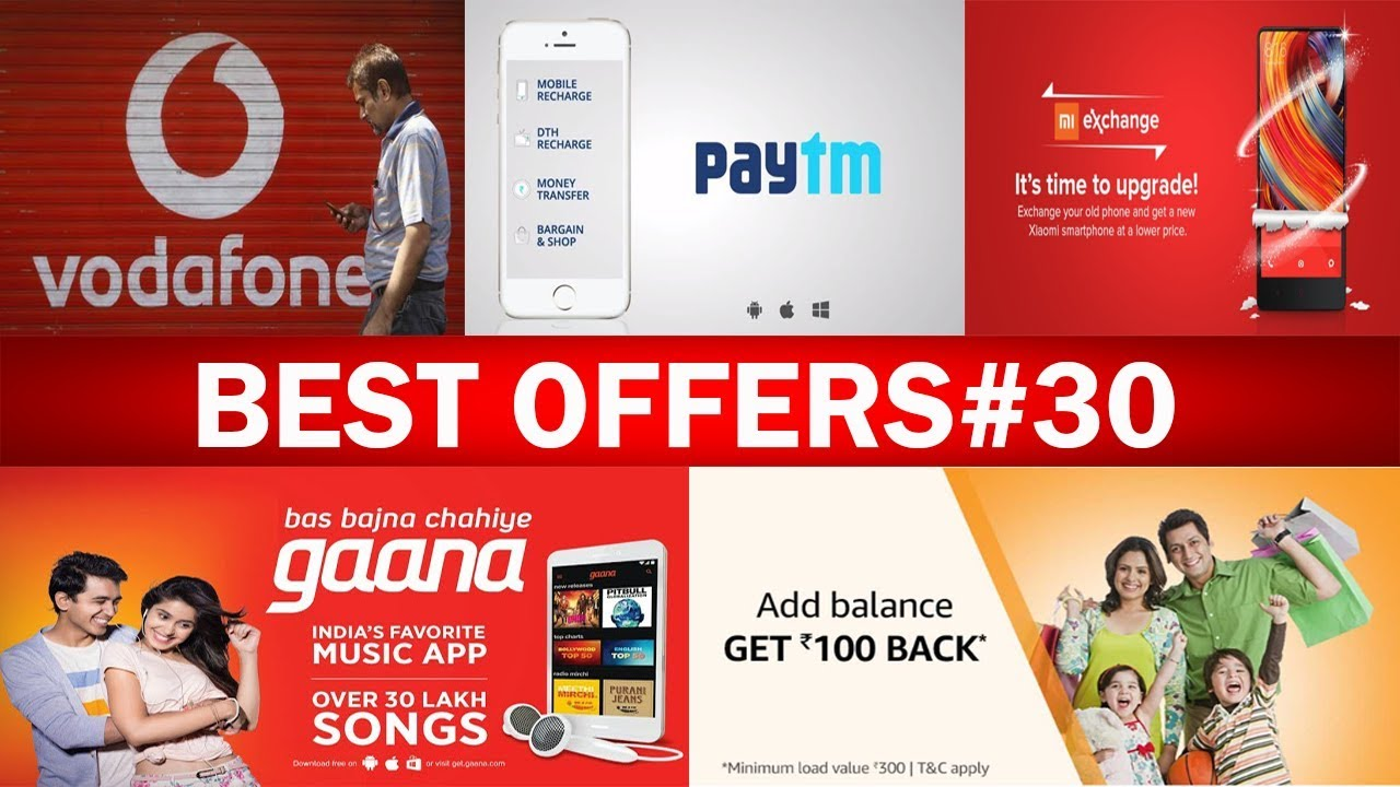 Rs 75 Free Paytm Recharge, Paytm Mall Free Products, Gaana Free  Subscription, Mi Exchange Ofer, 2018
