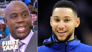 Magic Johnson: Ben Simmons will 'shock everybody' with his improved jumpshot | First Take