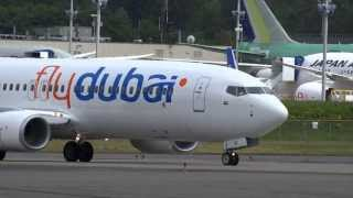 flydubai 737-800 A6-FEF at KPAE Everett, WA