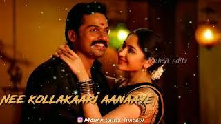 Whatsapp status tamil video | Love feel song | adi vellakara velayi 😍 | kadaikutty singam status