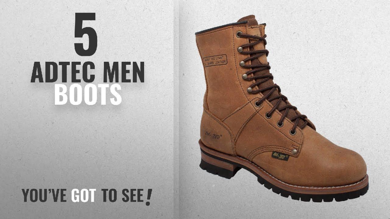 fc03629b6f3 Top 10 Adtec Men Boots [ Winter 2018 ]: AdTec Men's 9 Inch Logger Boot,  Brown, 13 W US