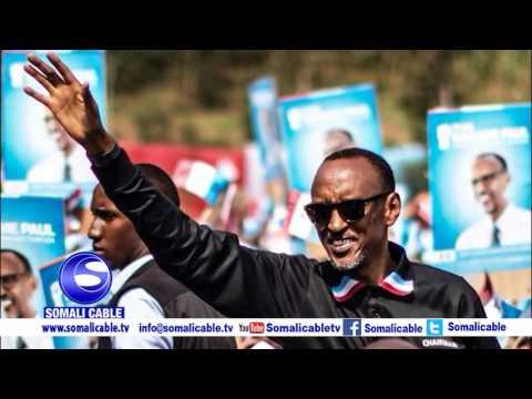Madaxweynaha dalka Rwanda ayaa markii seddexaad ku guuleystay inuu hogaamiyo dalkaasi Rwanda, kadib