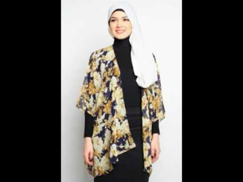Koleksi Baju Outerwear Outer Muslimah 2017 Terbaru Youtube