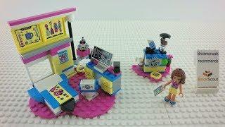 41329 LEGO® Friends Olivia´s Deluxe Bedroom Speed Build Review 4K by Brickmanuals
