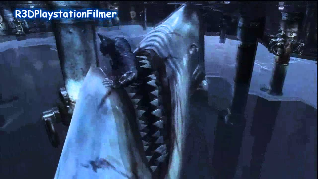 batman arkham city cutscenes batmans shark death youtube