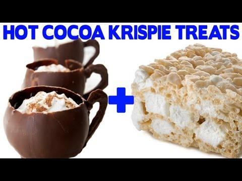 Hot Chocolate Rice Krispie Treats Recipe - Food Mashups