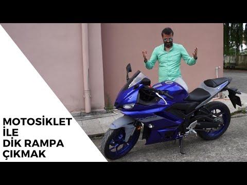 Motorla Kapalı Otopark Rampası Nasıl Çıkılır ve İnilir | 2020 Yamaha R25