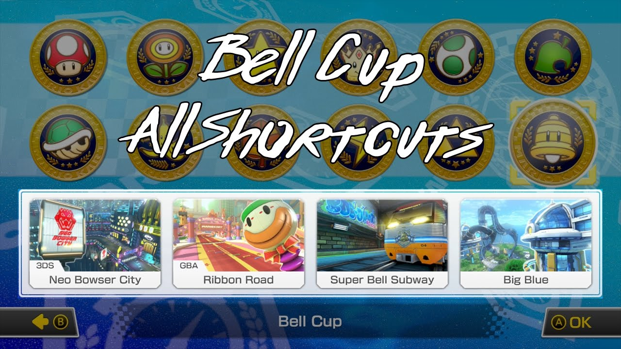 Mario Kart 8 Deluxe Bell Cup All Shortcuts Youtube