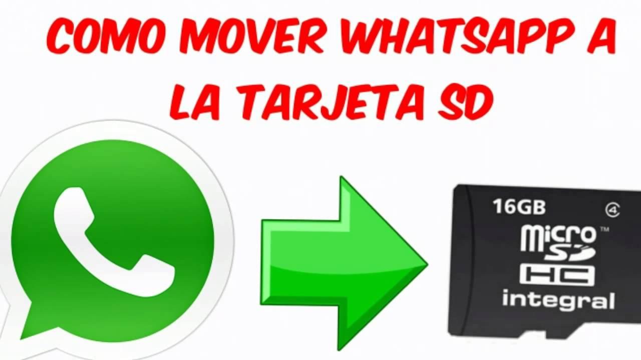 mover whatsapp a tarjeta de memoria