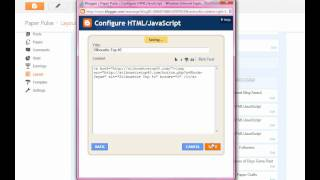 How to add an HTML code to your Blog