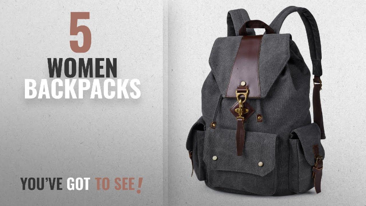 d245653002 Top 10 Women Backpacks  2018 Best Sellers   Vbiger Canvas Backpack Casual  Shoulder Bag Large