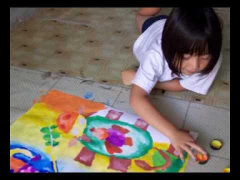 Siswa Sanggar Harmony Yogyakarta Finger Painting Youtube