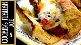 Grilled Italian Sausage Sandwich With Peppers, Onions, And Herb Butter Cooking Italian With Joe