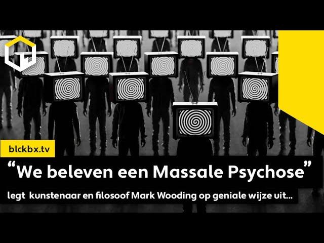 """""""We beleven een Massale Psychose"""" legt kunstenaar en filosoof Mark Wooding op geniale wijze uit..."""