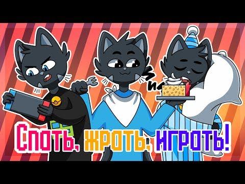 Спать, жрать, играть! Original MEME | Nyaumi (Анимация) (Жизненное меме)