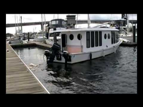 Docking the MOG solar powered motor yacht