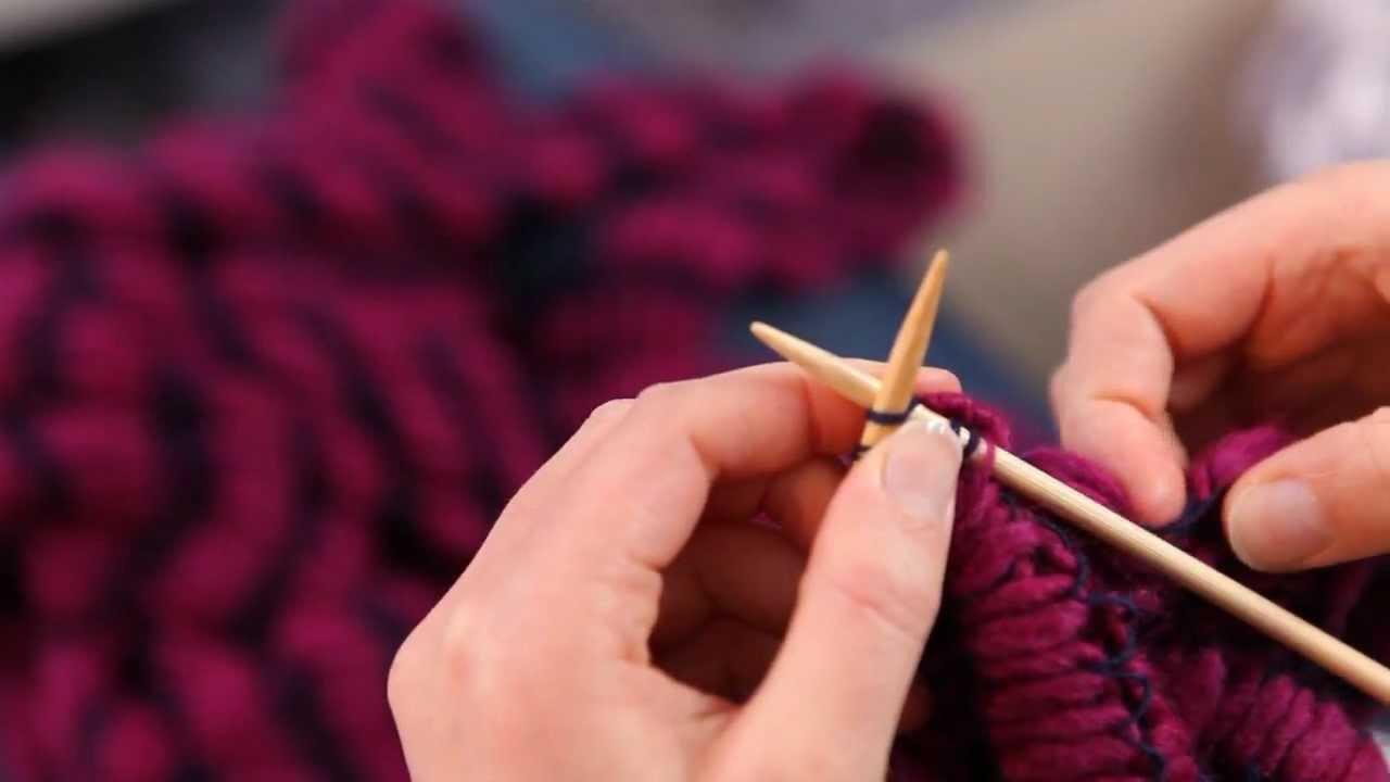tricoter une écharpe de faignante...