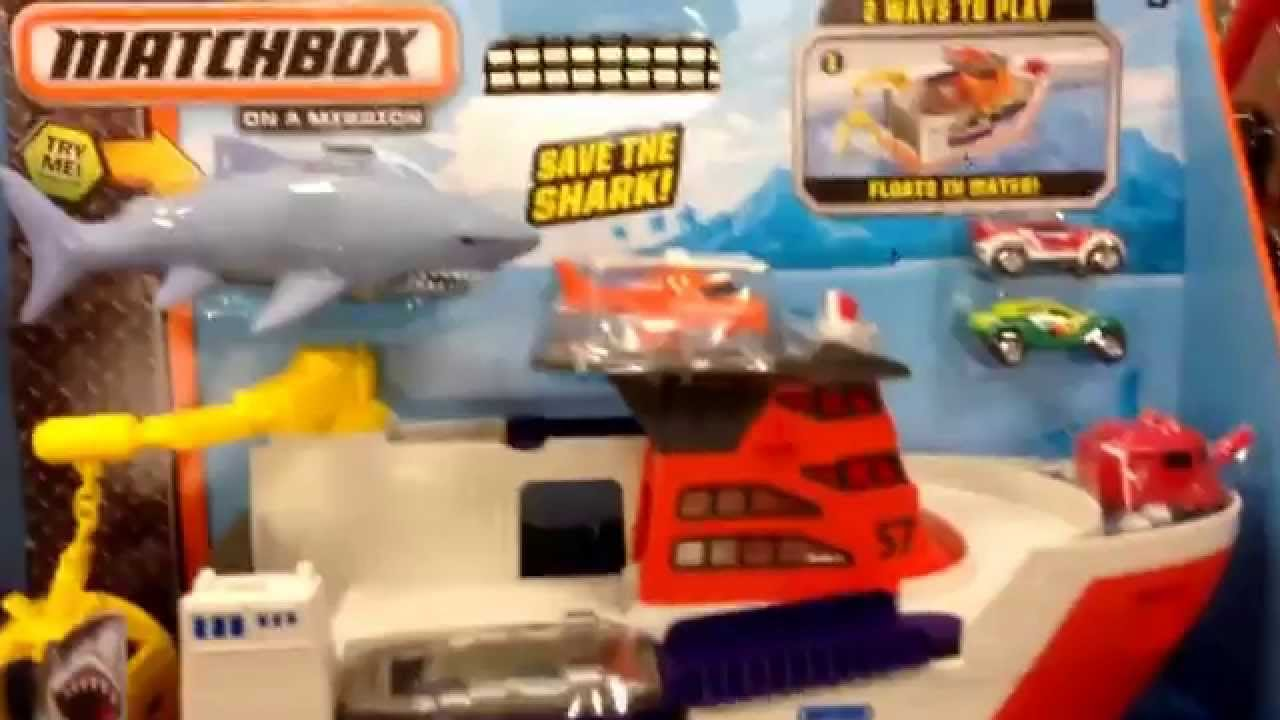 Shark Toy Set : Matchbox quot mission marine rescue shark ship huge boat and