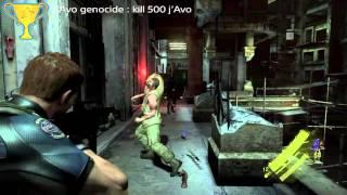 Resident evil 6 : j'Avo genocide trophy (kill 500 j'Avo)