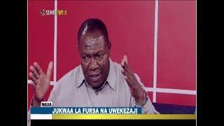 SEMA KWELI : RC AGGREY MWANRI MAHESABU YAKE YA MICHIRIZI