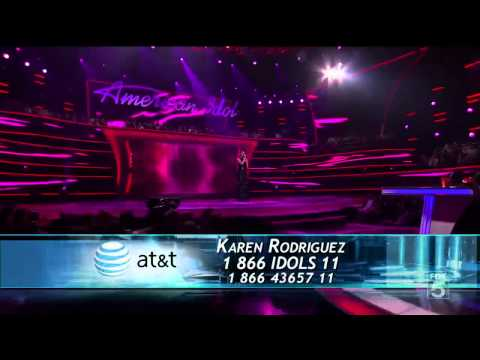 Karen Rodriguez - I Could Fall in Love - American Idol Top 13 - 03/09/11