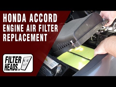 How To Replace Engine Air Filter 2009 Honda Accord V6 3.5L