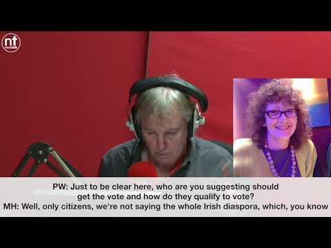 Newstalk Breakfast Mary Hickman on Irish Citizens Abroad voting