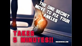 NO MORE STIFF ANKLES IN ONE MOVE | SmashweRx | Trevor Bachmeyer