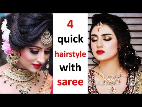 4 quick and unique hairstyle with saree || easy hairstyle || simple hairstyle || cute hairstyle