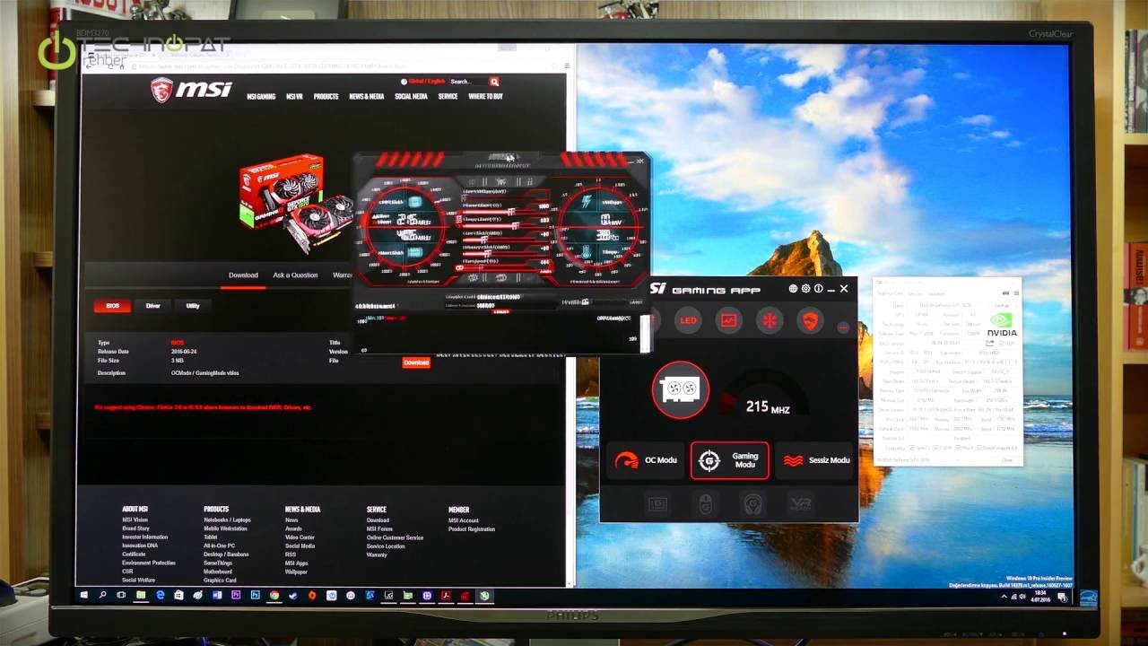 MSI GTX 1070 Gaming X 8G OC Mode BIOS Güncellemesi