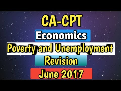 CA-CPT | ECONOMICS REVISION | UNEMPLOYMENT AND POVERTY......
